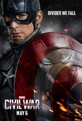 capitão américa guerra civil poster