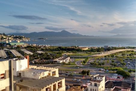 Vista do centro de Floripa