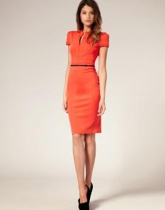 vestido justo 1 laranja